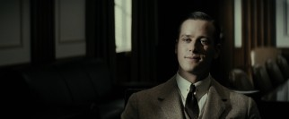 Clyde Tolson (Armie Hammer) impresses Hoover with his job interview candor.