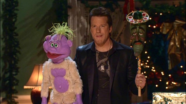 Jeff Dunham juggles three characters, two puppets, and two voices when he shares the stage (and screen) with Peanut and Jose Jalapeno on a Stick.