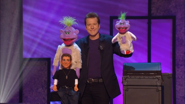The show takes on a meta quality in the end, as Jeff Dunham operates both a miniature and full-sized Peanut, the latter of whom operates Little Ugly Ass Jeff.