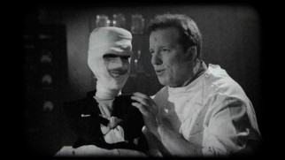 Jeff Dunham plays Dr. Frankenstein in the fake movie trailer that introduces Walter as Crankenstein.