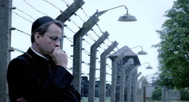 "In ""The Jewish Cardinal"", Father Lustiger (Laurent Lucas) takes a moment to remember the pain the Jewish people (including his own mother) suffered at Auschwitz."