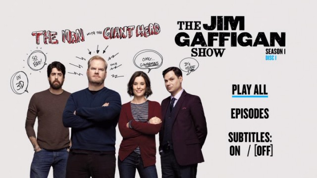 No bonus features are found on either disc of The Jim Gaffigan Show: Season One DVD.