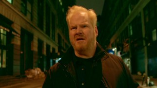 "Jim Gaffigan finds himself targeted by angry mobs in every direction in ""The Bible Story."""