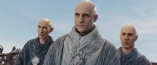 These minor, enigmatic three bald men (led by Mark Strong) hold an otherworldly yet antagonistic presence.