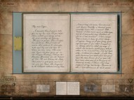 Disney Second Screen lets you see and magnify John Carter's letter to Edgar Rice Burroughs.