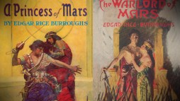"Covers for two of Edgar Rice Burroughs' Barsoom books appear in ""100 Years in the Making."""