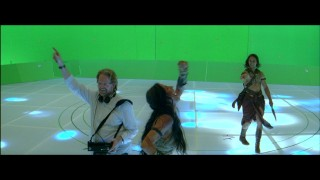 "Director Andrew Stanton and his stars get silly on their disco floor set in ""Barsoom Bloopers."""