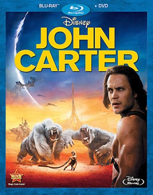 John Carter Blu-ray + DVD combo pack cover art