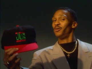 "Composer and music supervisor Hank Shocklee of The Bomb Squad proudly shows off his ""Juice"" baseball cap in ""Sip the Juice: The Music."""