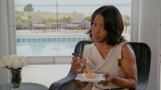 Stress unrelated to the wedding weighs down on Claudine (Angela Bassett), mother of the bride.