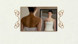 Sabrina (Paula Patton) admires her wedding dress in the mirror on the Blu-ray's stately menu.