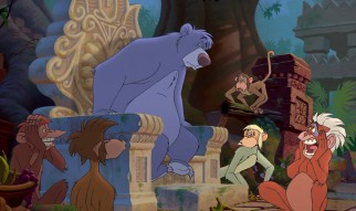 "King Louie is gone but not forgotten when Baloo takes Mowgli to the orangutans' new ""secret"" hideout."