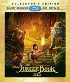 The Jungle Book (2016): Collector's Edition Blu-ray + Blu-ray 3D + DVD + Digital HD combo pack cover art