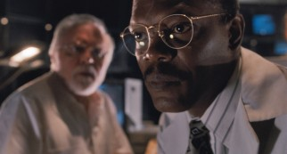 """Hold on to your butts,"" Samuel L. Jackson offers sage advice as head engineer Ray Arnold."