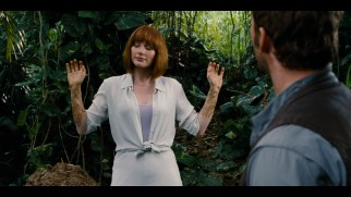 Claire (Bryce Dallas Howard) gets down and dirty in this deleted scene in which she covers herself in dinosaur feces.