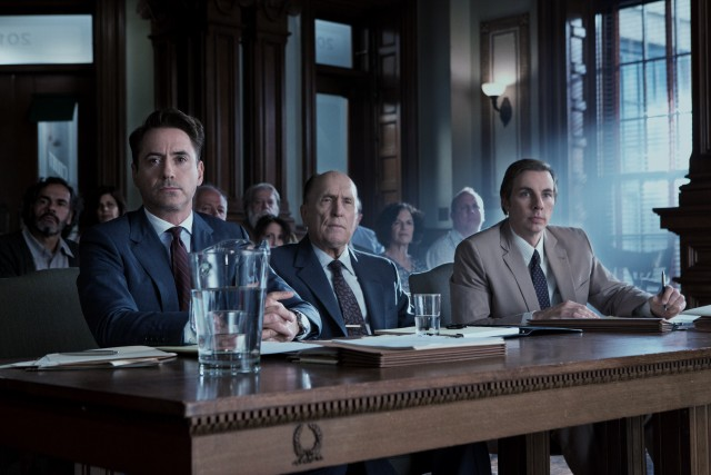 "In ""The Judge"", a hot shot lawyer (Robert Downey Jr.) defends his respected, long estranged father (Robert Duvall) against shocking murder charges."