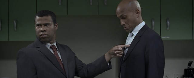 "Heavy style elevates an office ""made ya look"" prank to epic in the Key and Peele short ""Flicker."""