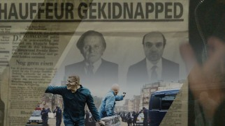 Freddy Heineken and driver's kidnapping is reported on a newspaper spotted on the Blu-ray's menu.