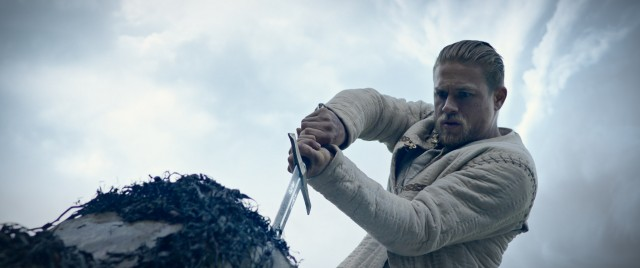 "Arthur Pendragon (Charlie Hunnam) surprises the kingdom when he pulls the sword from the stone in ""King Arthur: Legend of the Sword."""