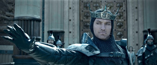 Jude Law plays the villainous King Vortigern, who wants Arthur killed after he becomes a legend.