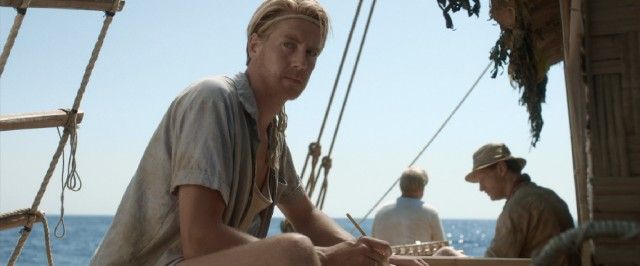 It could be any number of things raising the concern of Thor Heyerdahl (Pål Sverre Hagen) aboard the Kon-Tiki.