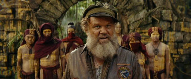 John C. Reilly steals the movie as Hank Marlow, a castaway who has been living among the natives of Skull Island since being stranded there during World War II.