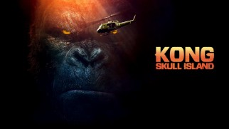 Kong stares down a helicopter on the Kong: Skull Island Blu-ray menu, as opposed to the tear gas-wielding soldier on the cover.