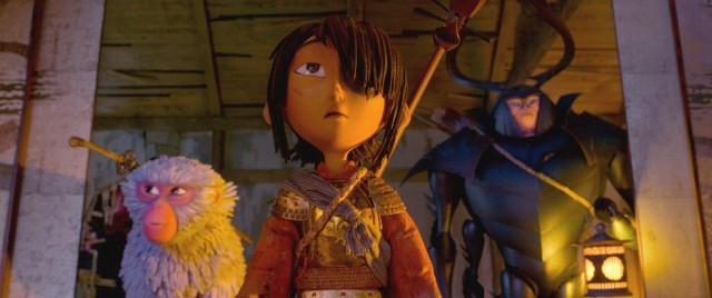 "Kubo goes on a hero's journey with Monkey and Beetle in ""Kubo and the Two Strings."""