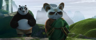 Master Shifu (Dustin Hoffman) conveys to Po the importance and power of inner peace.