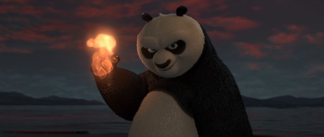 Catching fire in your paw is no big deal for the Dragon Warrior and kung fu panda Po.
