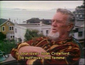 "Sitting outside his home in San Francisco, Sterling Hayden recalls working with Joan Crawford in ""Johnny Guitar"" in this 1984 interview for French television."