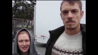 Mireille Enos and Joel Kinnaman reverse their characters' wardrobes in the gag reel.