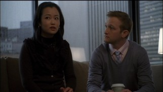 The intern (Diana Bang) who located some noteworthy Richmond campaign footage turns up alongside Jamie (Eric Ladin) in two of Disc 3's deleted scenes.