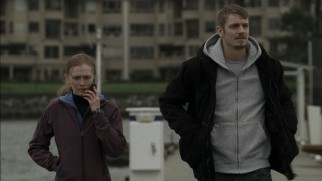 "Linden (Mireille Enos) and Holder (Joel Kinnaman) stick together while her son is ""Missing."""