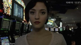 Gone but not forgotten: murdered teenager Rosie Larsen (Katie Findlay) turns up on a casino ATM camera hours after her last known sighting.