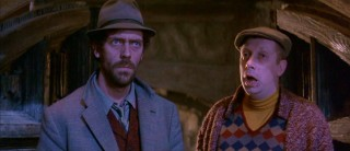 Dim-witted henchmen Jasper (Hugh Laurie) and Horace (Mark Williams) are featured at length as the film' British comic relief.