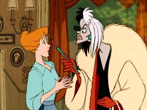 "Lisa Davis was originally intended to voice the character on the right, Cruella De Vil, using the Zsa Zsa Gabor impression she developed while making the camp classic ""Queen of Outer Space"" alongside the Hungarian icon."