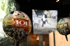 "Balloons celebrating the Platinum Edition DVD release of ""101 Dalmatians"" set a festive mood in the Disney Animation Building lobby."