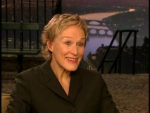 Glenn Close looks quite a bit different out of character. Neither black nor white... but blonde.
