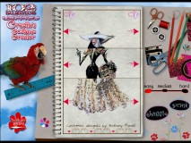 Match the three parts of a design in Cruella's Costume Creator, a DVD-ROM activity from a time when Disney saw value in encouraging customers' computing.