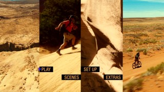 Aron's early adventures and Canyonlands National Park scenery share the screen in the DVD's main menu montage.