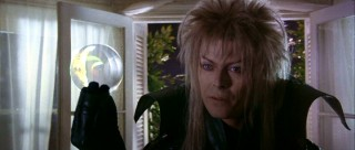 Rock icon David Bowie plays Jareth, the conniving Goblin King who shows up in Sarah's bedroom.