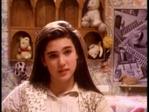 "Jennifer Connelly gives an interview for the 1986 documentary ""Inside the Labyrinth."""