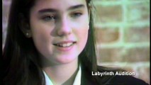 A young Jennifer Connelly auditions for the role of drama queen protagonist Sarah.