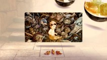 A piece of concept art in the gallery depicts Toby amidst goblins.