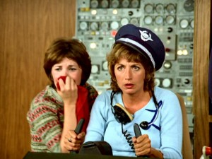 "Shirley�s hysterics do little to break Laverne�s concentration on piloting in Season 3 premiere ""Airport '59."""