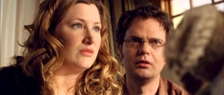 Palm reader Naomi (Kathryn Hahn) and science teacher Larry (Rainn Wilson) are a quirky, hippie-ish engaged couple that's convinced there's meaning behind Noah and Emma's new gifts.