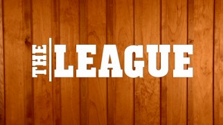"The title logo for ""The League"" appears against wood paneling, for its rec room implications, although neither really features on the show."