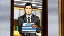 "Sterling Archer tries to entice a fat co-worker with donuts in the included pilot episode of FX's animated comedy ""Archer."""
