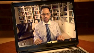Webcam chats are all the rage among these guys, allowing Ruxin (Nick Kroll) to talk smack kind of face-to-face.